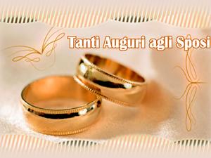 Auguri Matrimonio : Biglietti dauguri di matrimonio anelli nuziali