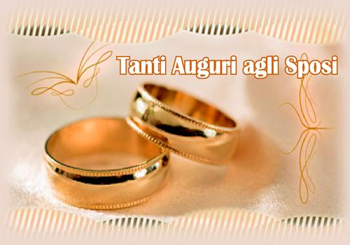 Biglietti D Auguri Di Matrimonio Anelli Nuziali