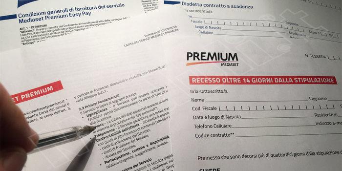 modulo disdetta mediaset premium easy pay