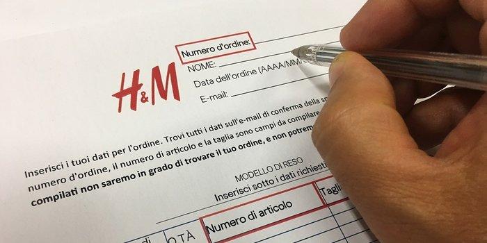 828b3038f4 Reso H&M: quando e come richiederlo