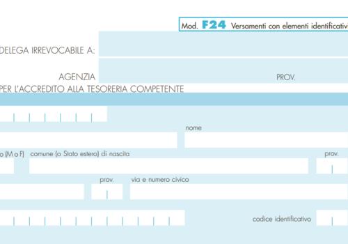 Modello di pagamento f24 con elementi identificativi for F24 elide istruzioni