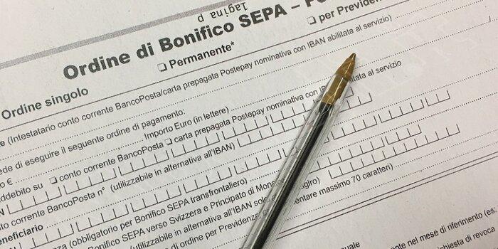Modulo Bonifico Sepa Postagiro
